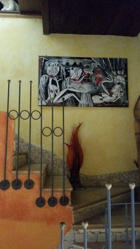 DIPINTO IN BIANCO E NERO ALESSANDRO SIVIGLIA PAITING MODERN ART