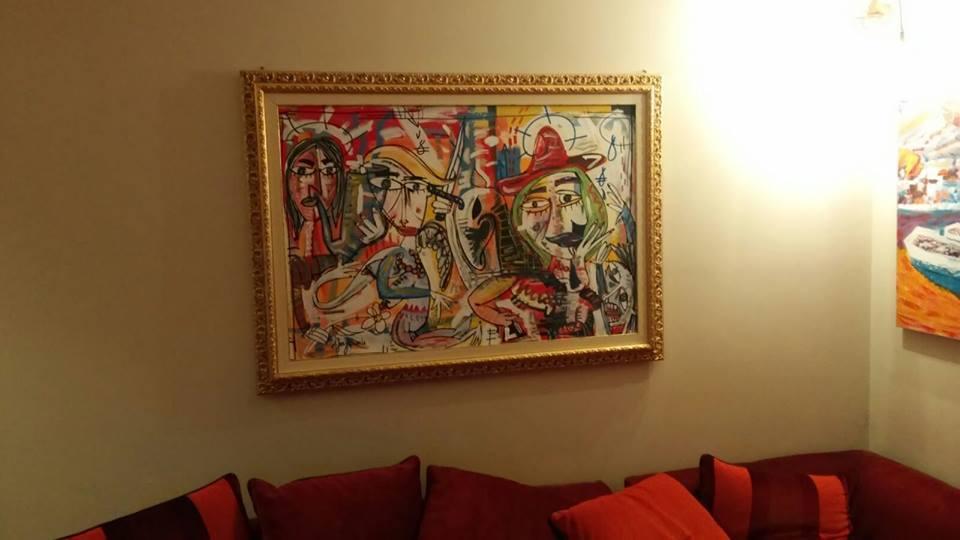 painting la fiesta, la festa, fiesta quadro moderno