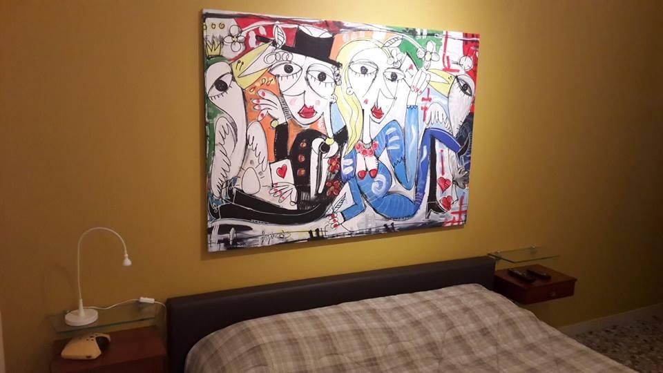 regalo sposi dipinto moderno , alessandro siviglia arte moderna