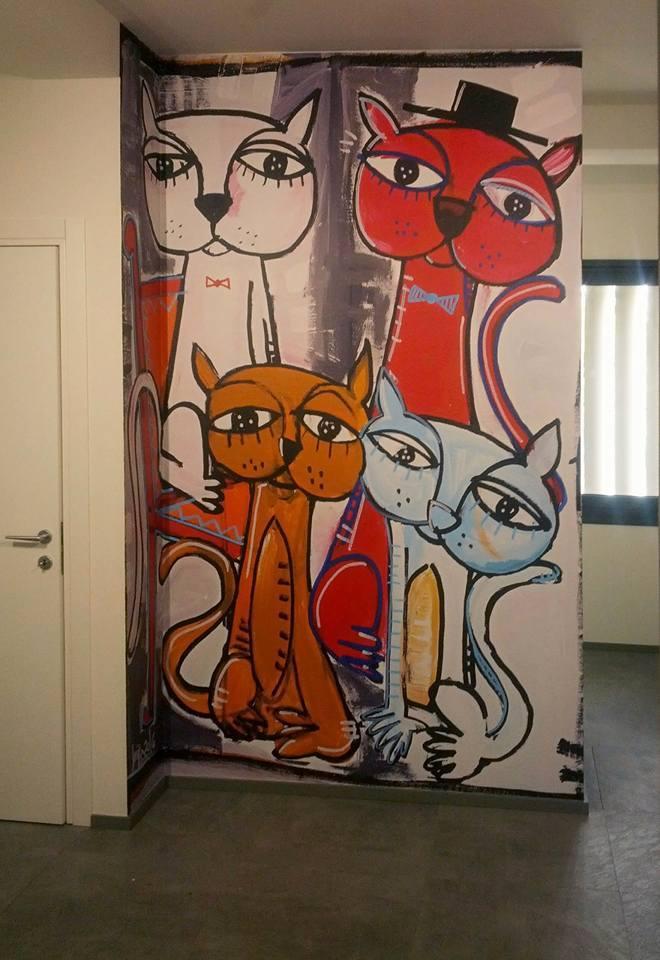 modern painting to decorate the office immagine per applicazione murale c/o ghibson italia srl 287x216 cm