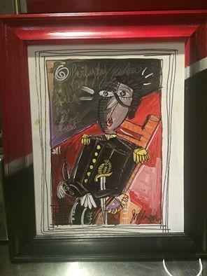dipinto moderno il carabiniere, quadro moderno cornice