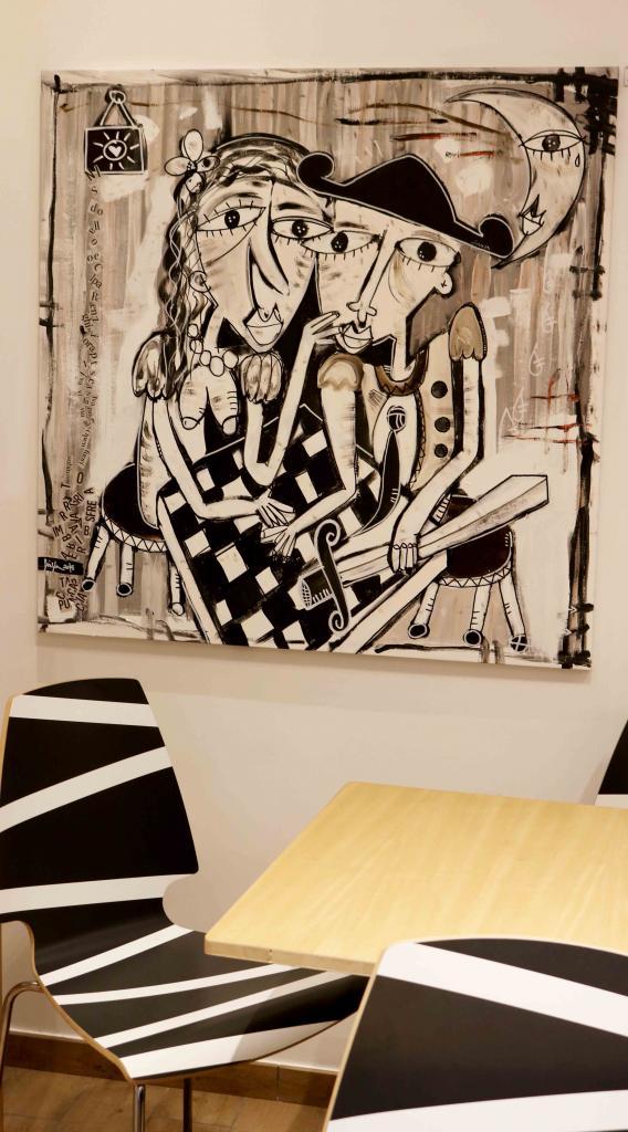 arredamento caffè, alessandro siviglia , bar quadro moderno
