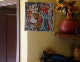 quadro moderno i gatti.