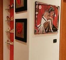dipinto la ballerina, ballerina, rosso, dipinto figurativo