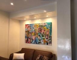 quadri moderni arredamento soggiorno siviglia alessandro