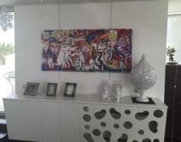 arredamento dipinto salone, soggiorno quadri astratti