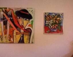 la furia , torero dipinto cuadros arte modeno