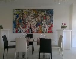 quadro moderno arredamento ristorante