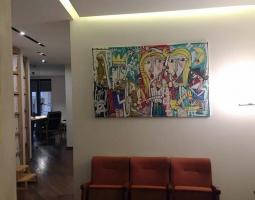 arredamento per lo studio legale, quadro moderno collezione privata studio avvocato salerno