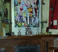 dipinto moderno soggiorno siviglia alessandro