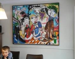 grande tela, dipinto grande dimensione