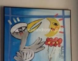 quadro-moderno-alessandro-sivigliaarredo studio dentistico