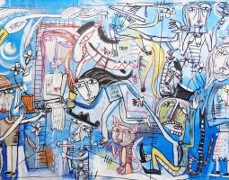 120x80 cm ''LE CHIACCHIERE '' 2015