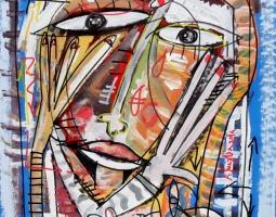 astratto senza titolo 45x50 tela