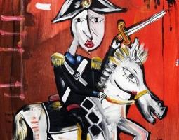 carabiniere a cavallo 60x50 cm 2016