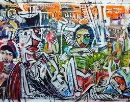 dipinto moderno 70x150 cm