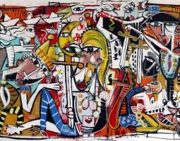 i simboli, arte moderna 100x150 cm su tela siviglia alessandro artist