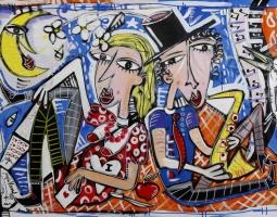 los zitanos 100x150 cm su tela modern art