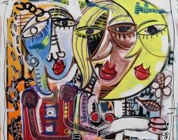 paiting, size 70x70 cm modern art, 110€