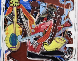 quadro moderno 70x70 cm vista mare, siviglia alessandro arte moderna