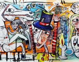 scelta di liberta oil on canvas (tec mista su tela ) 70x200 cm anno 2015 (2)