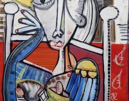 '' EL REY '' SIZE 77X74  TECNICA MISTA -2015 - SIVIGLIA ARTE MODERNA SITO