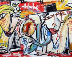 I PROMESSI SPOSI size 60x100 cm 2015 oil on canvas
