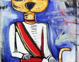 '' IL GATTO PRINCIPE '' SIZE 50X70 - 2015 - ACRILYC ON CANVAS