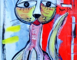 sig-gatto-25x30-cm-su-tela-2015