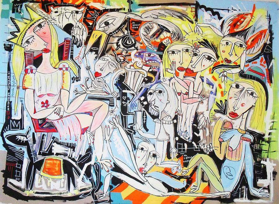 quadri moderni dipinto la reina artista siviglia