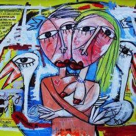 quadro moderno bacio amore alessandro siviglia