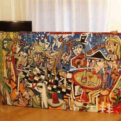 foto quadro moderno grande dipinto a mano-alessandro siviglia