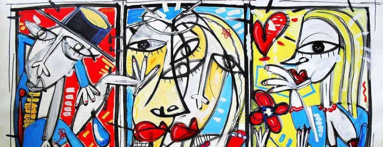 quadro moderno colorato dipinto arte moderna alessandro siviglia