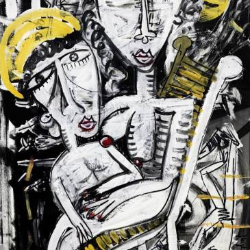 Maria Salvador 90x64 cm quadro moderno oil on canvas