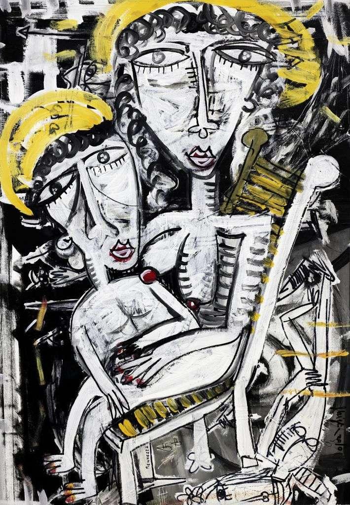 Quadro Maria Salvador 90x64 cm quadro moderno