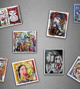 Calamite da collezione - magneti firmati a mano Alessandro Siviglia