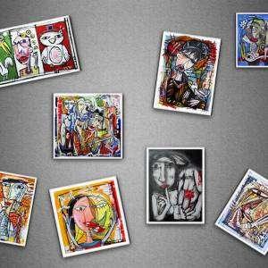 calamite da collezione-quadri ed immagini di alessandro siviglia-Calamite-da-collezione-magneti-firmati-a-mano-Alessandro-Siviglia