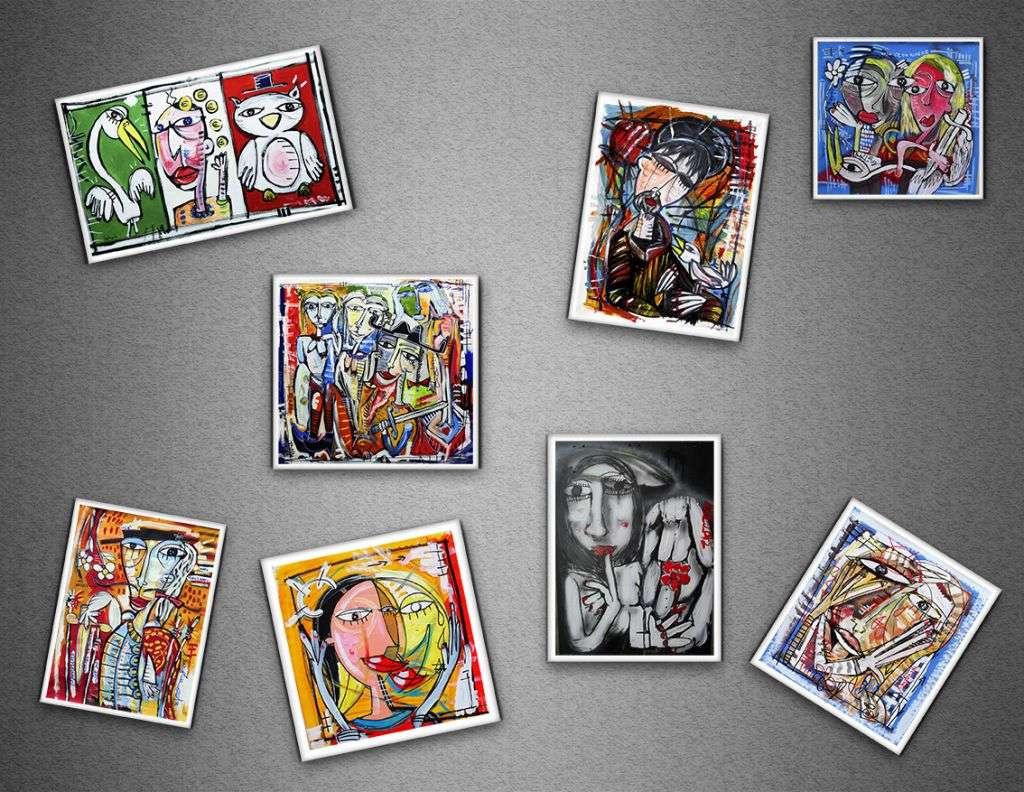 Idee Quadri Da Dipingere : Calamite da collezione con le immagini dei quadri di alessandro siviglia