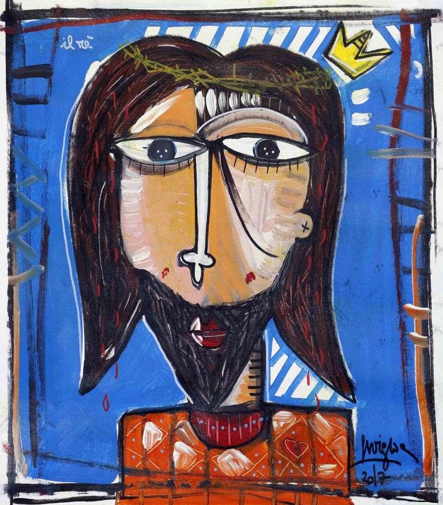 ritratto di Cristo-quadro dipinto a mano originale
