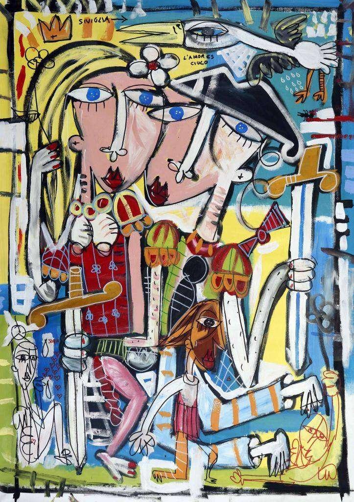 L'amor es ciulo - quadro moderno sull'amore