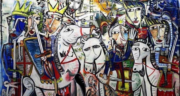 quadro moderno-mori contro cristiani-dipinto da alessandro siviglia