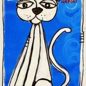 gatto napoletano quadro moderno