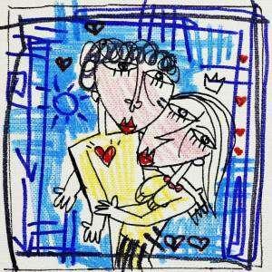 quadri moderni-l'abbraccio
