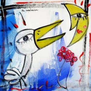 cigno che canta alla luna quadro moderno Siviglia