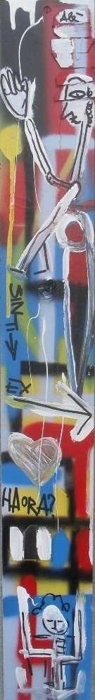 dipinto astratto sviluppato in verticale