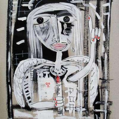 dipinto arte contemporanea san pietro