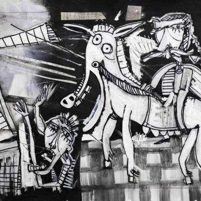 quadro moderno don chisciotte