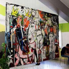 Riproduzione in larga scala dipinto moderno