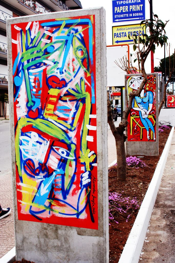murales astratto di alessandro siviglia realizzato a salerno