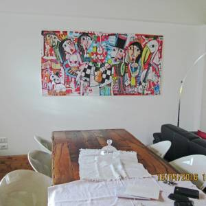 LAVORO SU COMMISSIONE RITRATTO DI FAMIGLIA dipinto su tela  2016 ROMA